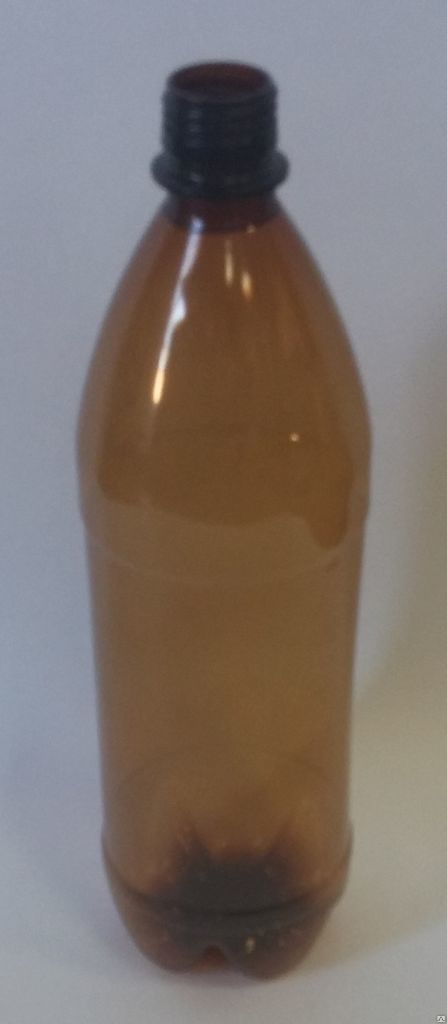 ПЭТ бутылок 1,0 л коричневая