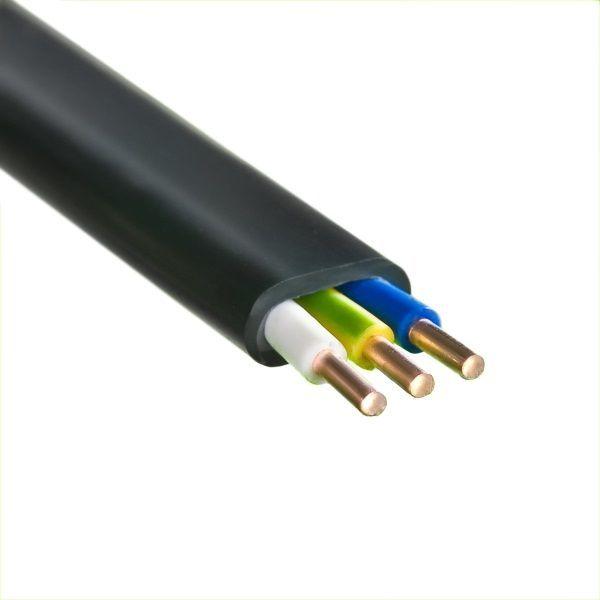 Кабель силовой 3*2,5 кв.мм кабель силовой (монтажный) медный с ПВХ изоляцией ВВГбм-Пнг(А) Крепика дом крепежных материалов
