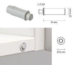 Амортизатор мебельный Смягчитель удара врезной d.10мм, светло-серый Крепика дом крепежных материалов